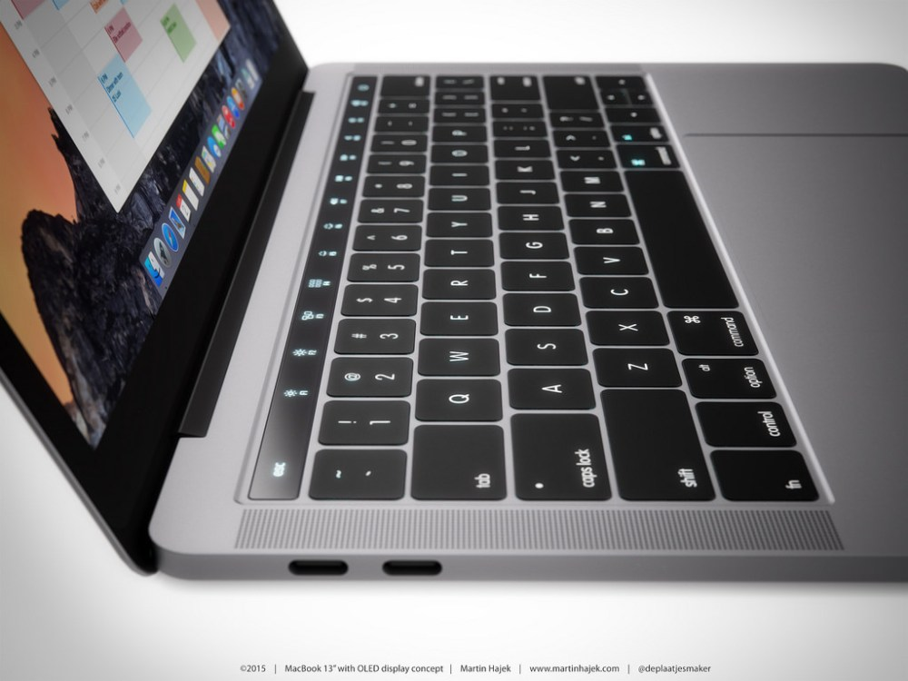 OLED touch bar concept in 2016 MacBook Pro | Credit : Martin Hajek