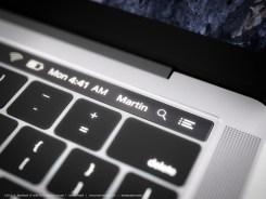 OLED touch bar concept in 2016 MacBook Pro | Credit : Martin Hajek