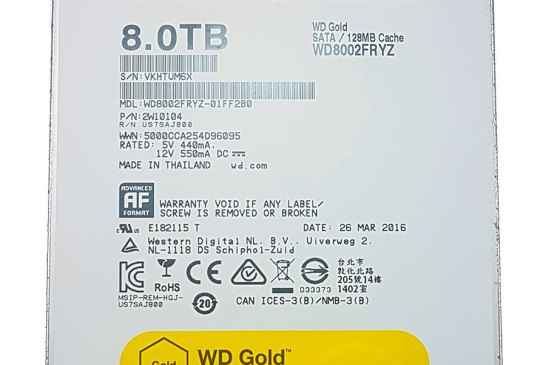 WD Gold 8TB Datacenter Hard Disk Drive Review