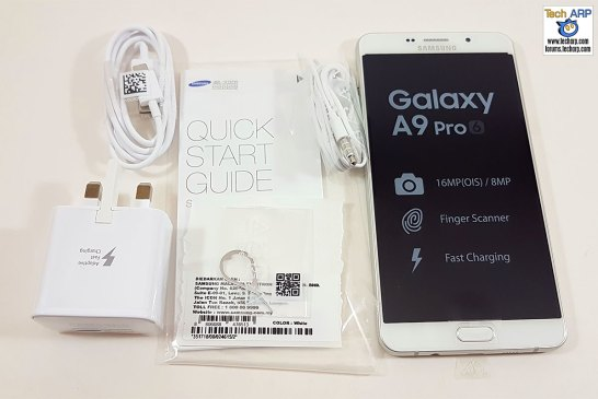 Samsung Galaxy A9 Pro box contents