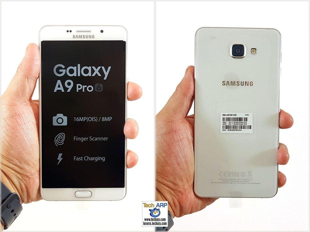 Samsung Galaxy A9 Pro in hand