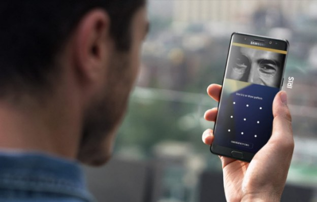 Iris Scanner of the Galaxy Note7