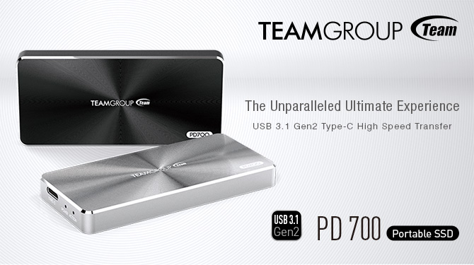 Team Group PD700 USB 3.1 Gen2 Portable Drive Launched