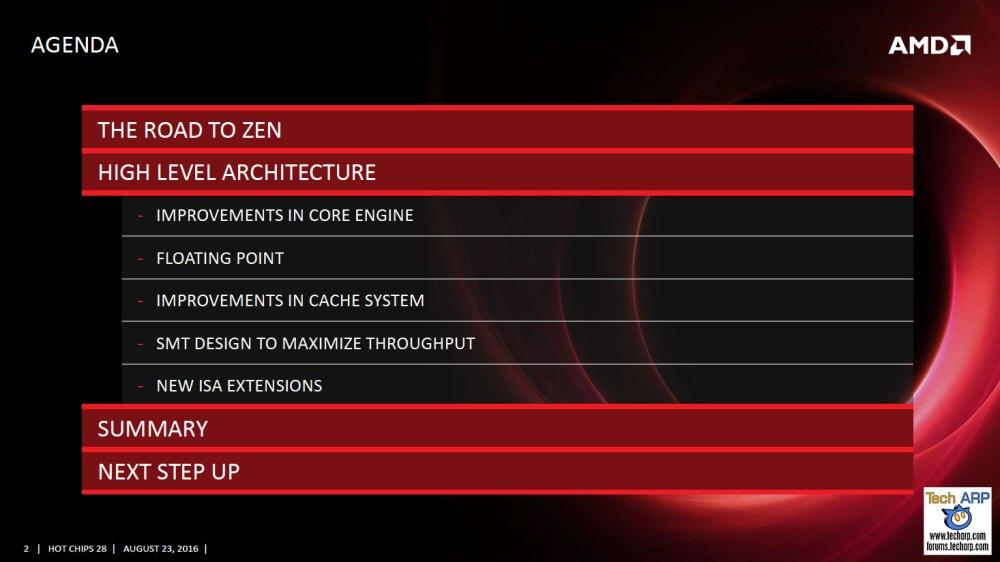 AMD Zen Sneak Peek @ Hot Chips 2016