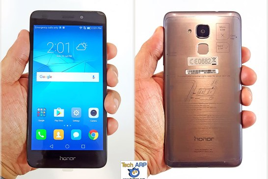 honor 5C smartphone in hand