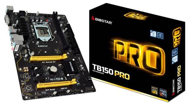 BIOSTAR TB150 PRO Motherboard Announced