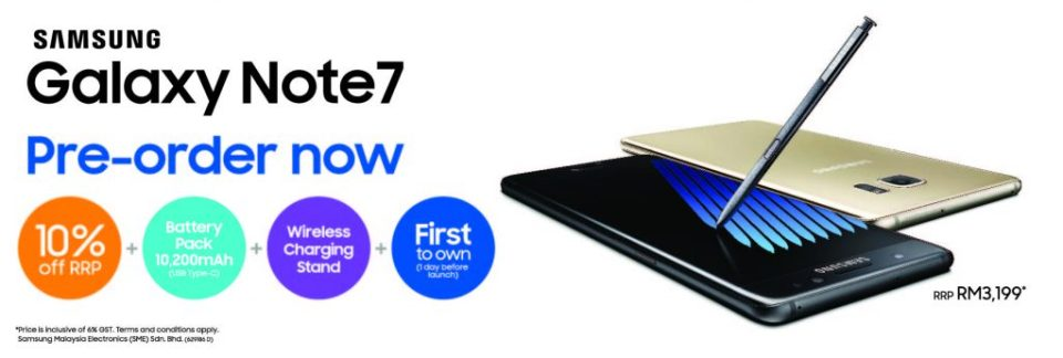 The Complete Samsung Galaxy Note7 Pre-Order Details
