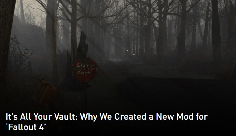 Free Download Mod For Bethesda's Acclaimed Fallout 4.