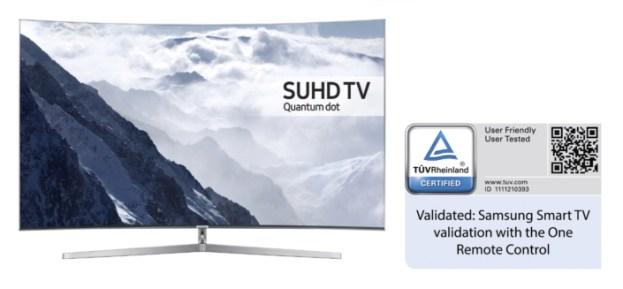 Samsung 2016 Smart TVs Certified By Germany TÜV Rheinland