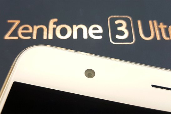 The ASUS ZenFone 3 Ultra front camera