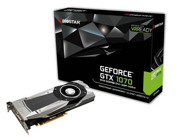 BIOSTAR GeForce GTX 1070 Announced