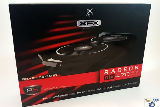 The XFX Radeon RX 470 RS Black Edition box