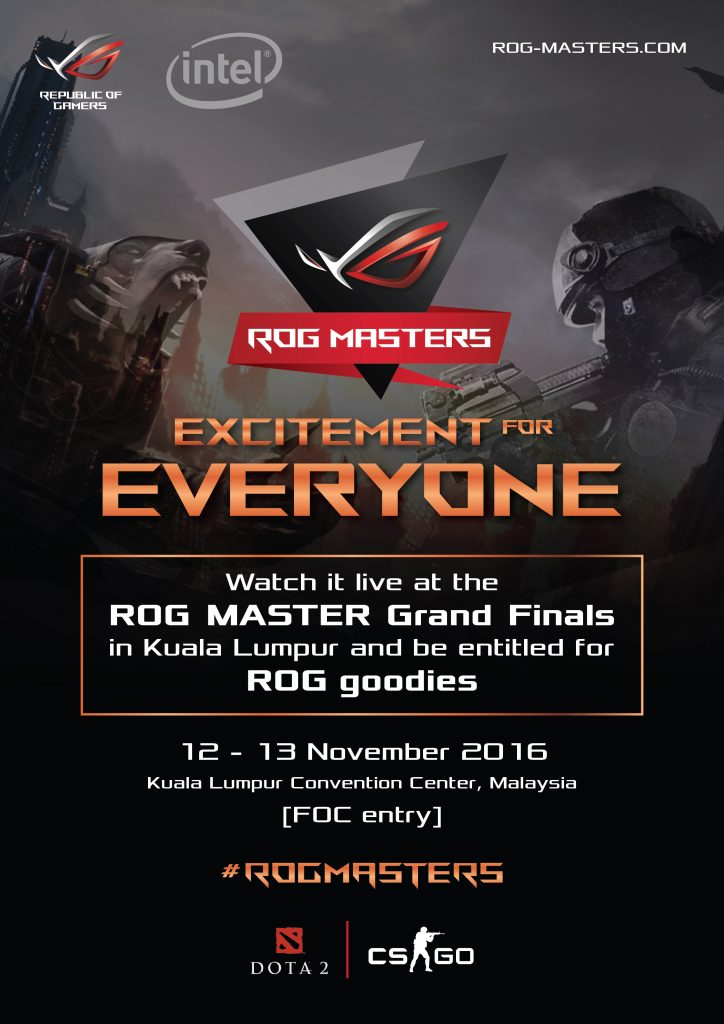 ROG Masters 2016 Grand Finals @ KL Convention Centre