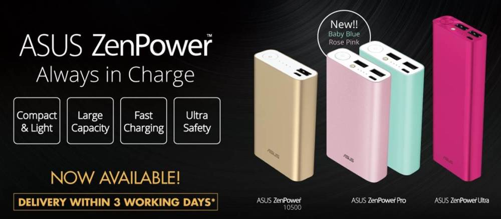 New ASUS ZenPower Pro Colors Available In Malaysia
