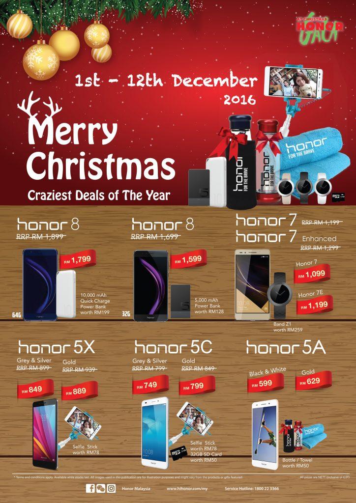 honor Gala Christmas Promotion 2016