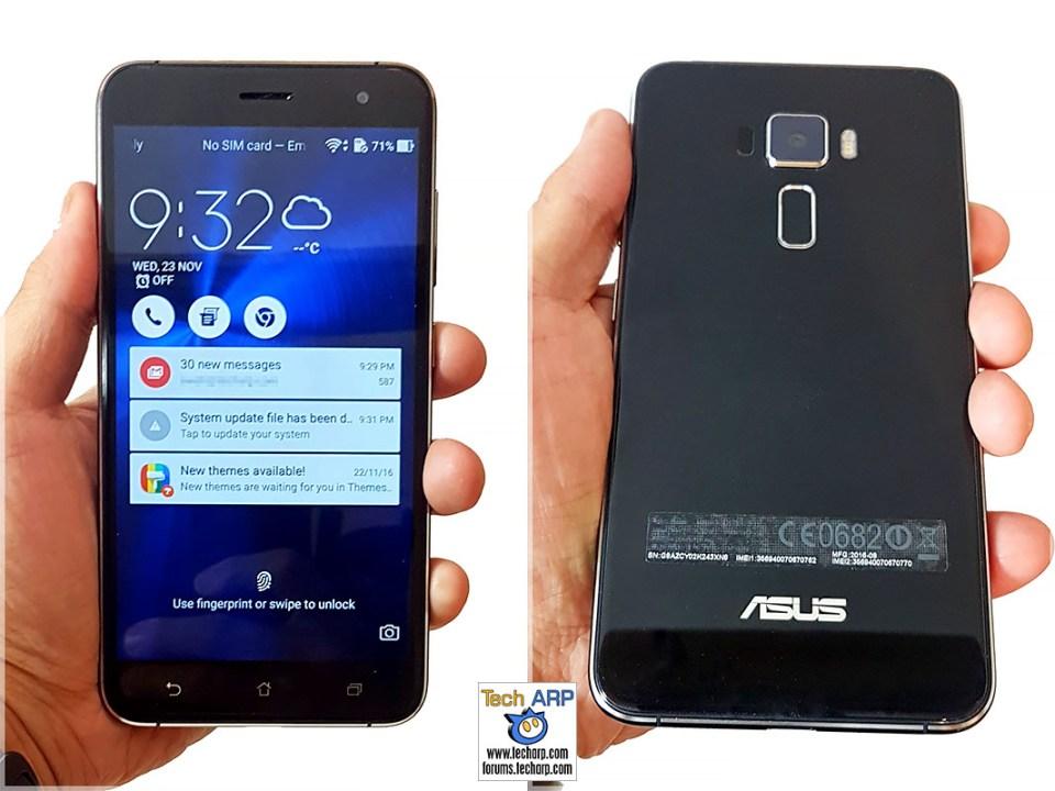The ASUS ZenFone 3 (ZE552KL) in hand