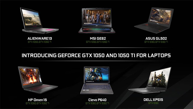 NVIDIA GeForce GTX 1050 Ti & GTX 1050 Laptops Launched!