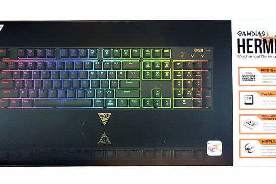 The GAMDIAS Hermes RGB Mechanical Gaming Keyboard box