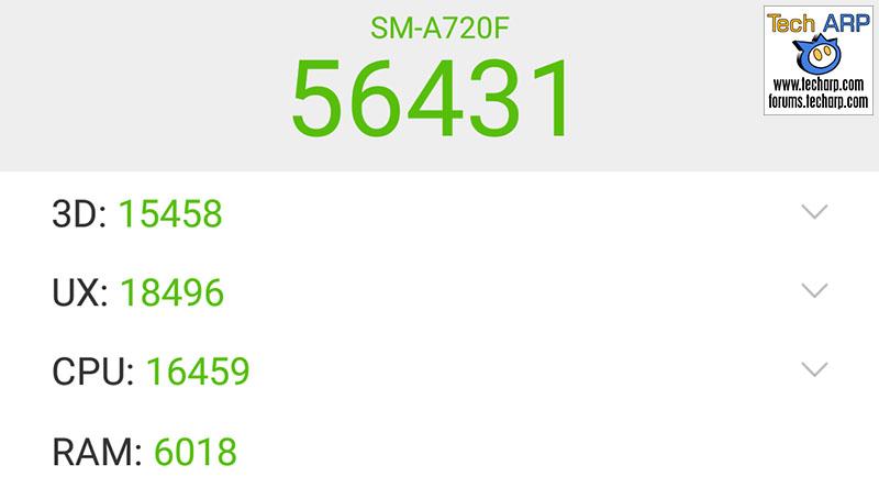 The 2017 Samsung Galaxy A7 (SM-A720F) AnTuTu results