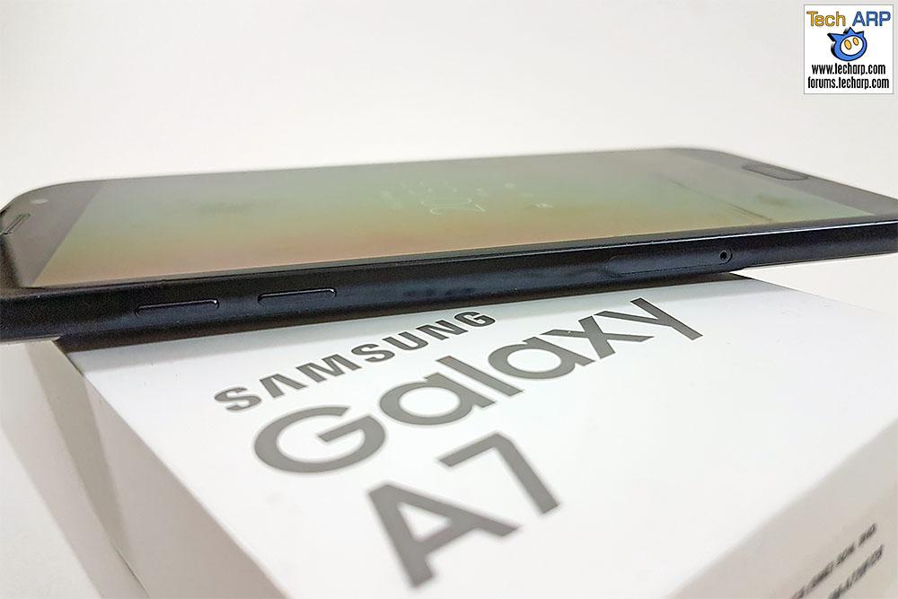 The 2017 Samsung Galaxy A7 (SM-A720F) left side