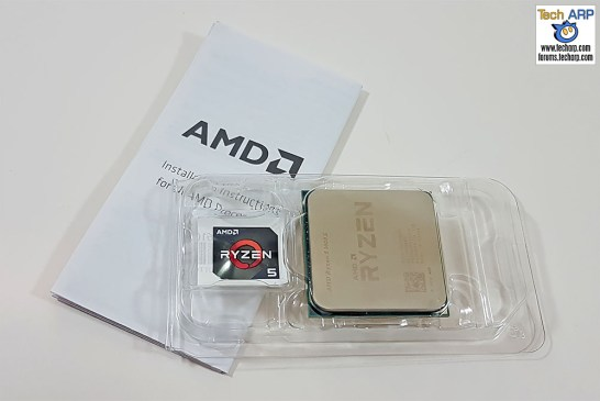 The AMD Ryzen 5 1600X box contents