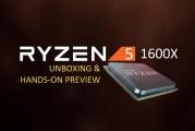 The AMD Ryzen 5 1600X Processor First Look