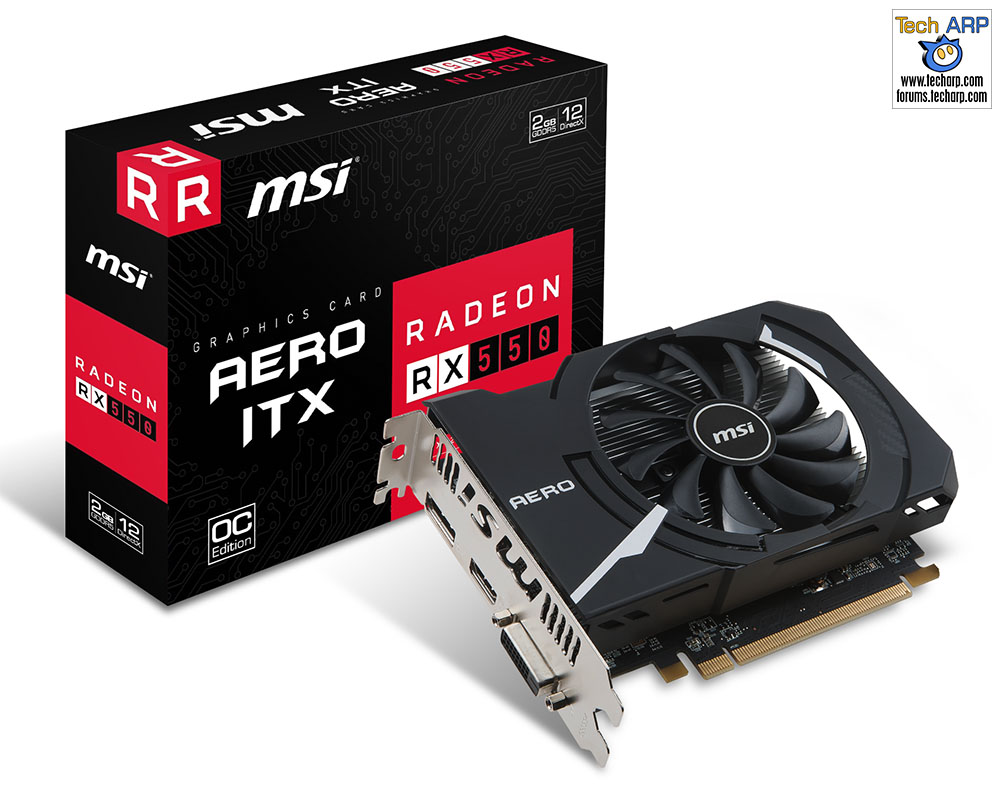 MSI Radeon RX 550 Aero ITX OC Edition