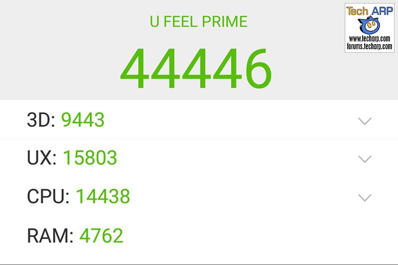 Wiko U Feel Prime AnTuTu results