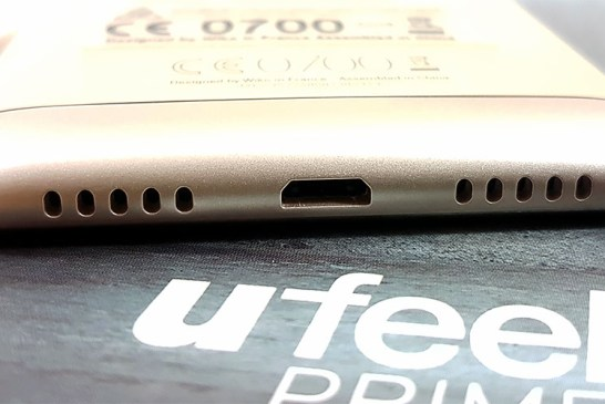 The Wiko U Feel Prime USB port