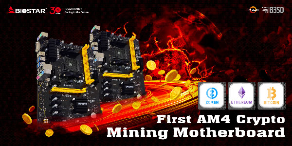 The BIOSTAR TB350-BTC Crypto Mining Motherboard Launched