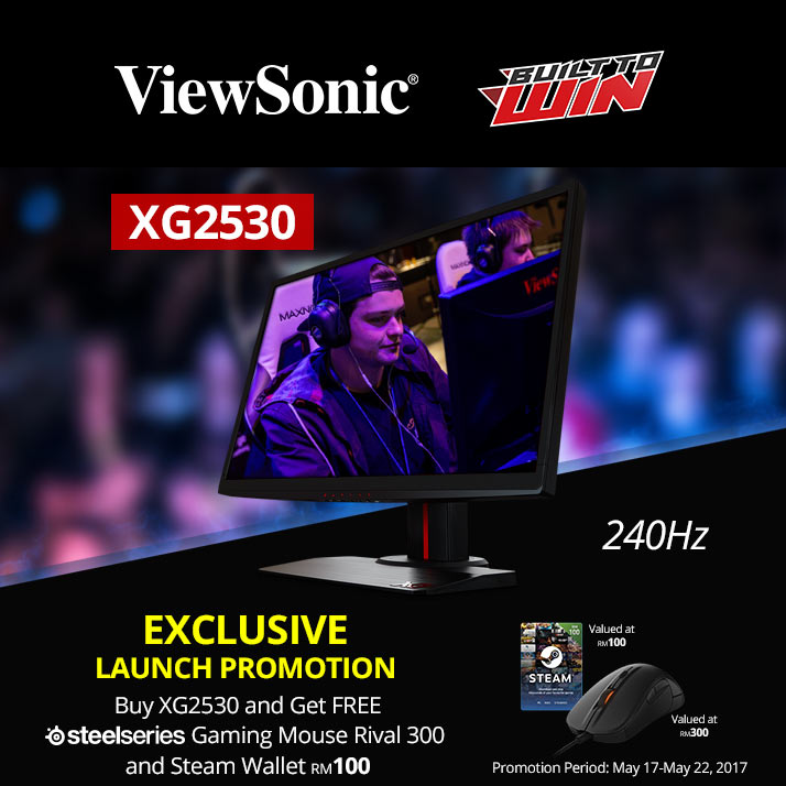 New ViewSonic XG2530 Gaming Monitor Launched