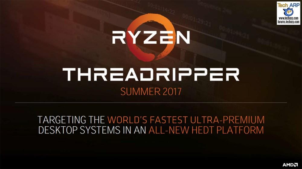 The AMD Ryzen Threadripper CPU Details Revealed!