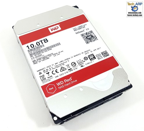 The 10TB WD Red NAS-optimised hard disk drive