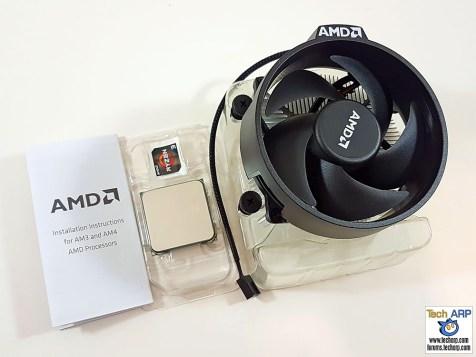 The AMD Ryzen 3 1300X box contents