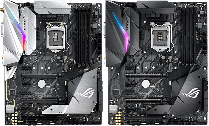 The ASUS ROG Strix Z370-E Gaming and Z370-F Gaming