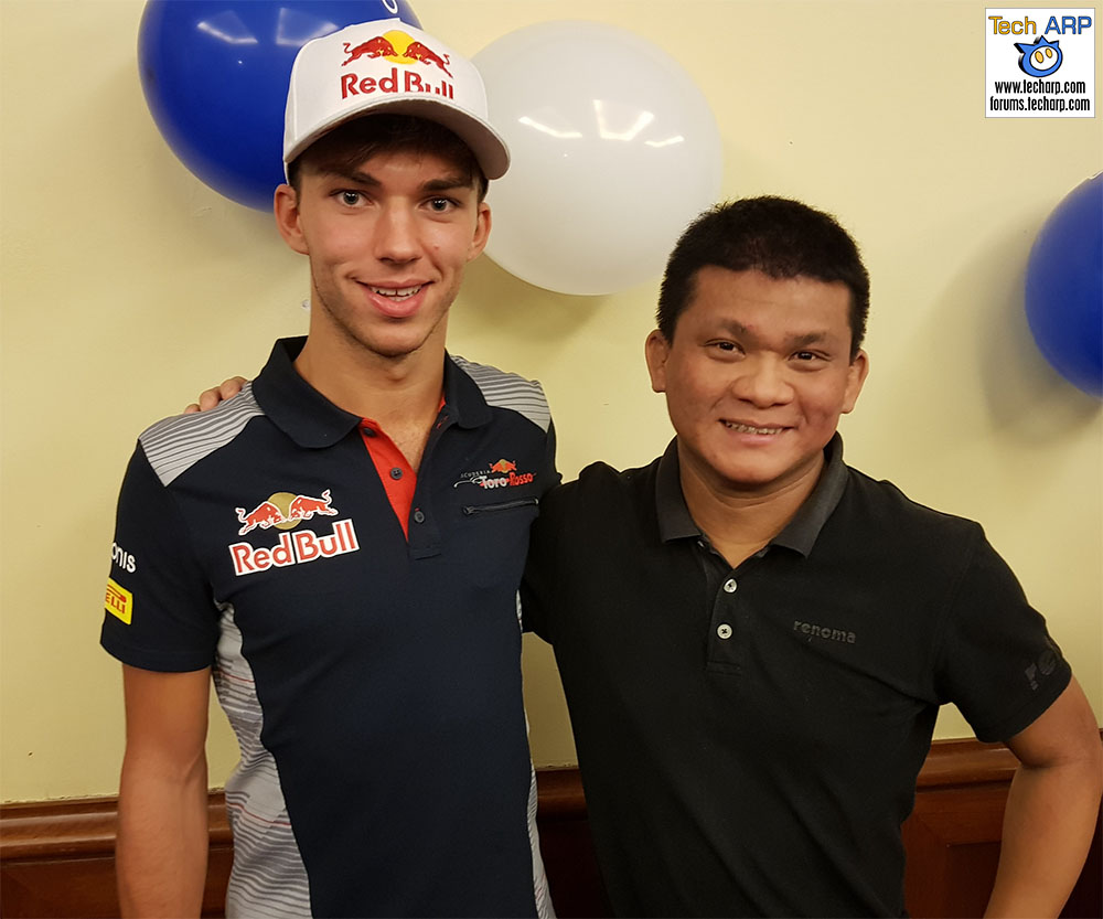 An Evening With Scuderia Toro Rosso & Acronis - Pierre Gasly & Adrian