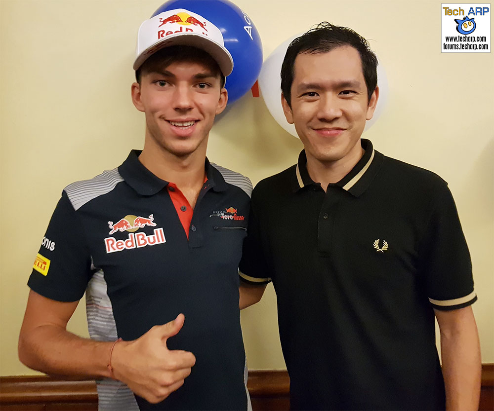 An Evening With Scuderia Toro Rosso & Acronis - Pierre Gasly & Chai