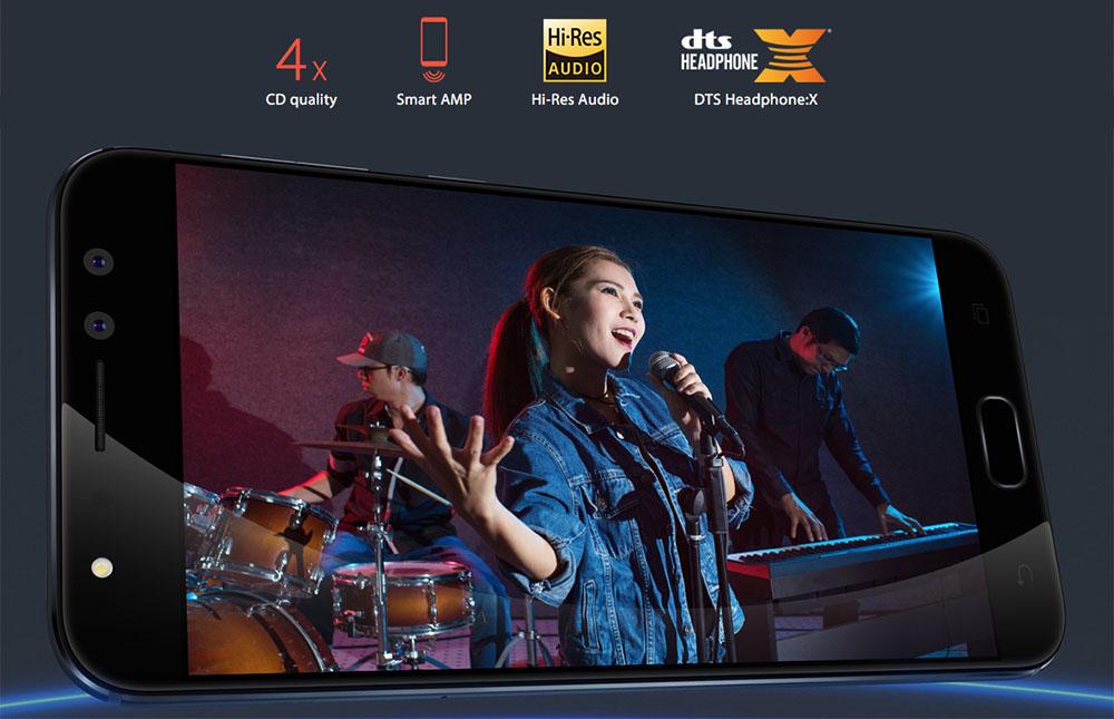 The ASUS ZenFone 4 Selfie Pro (ZD552KL) audio