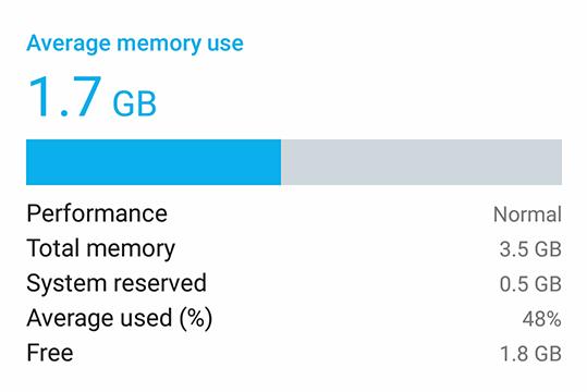 The ASUS ZenFone 4 Selfie Pro memory capacity