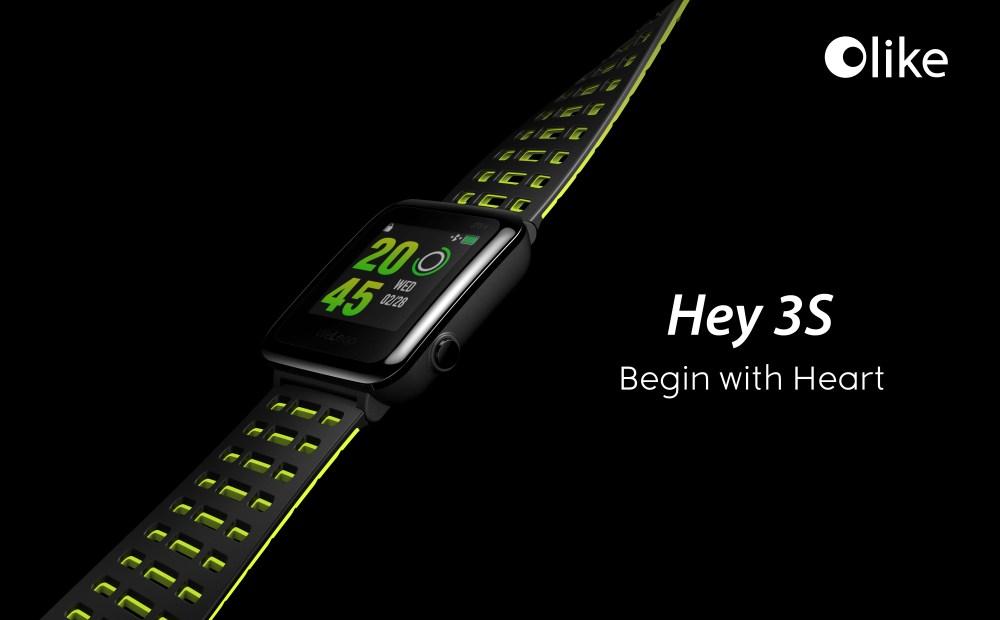 The Olike Hey 3S smartwatch