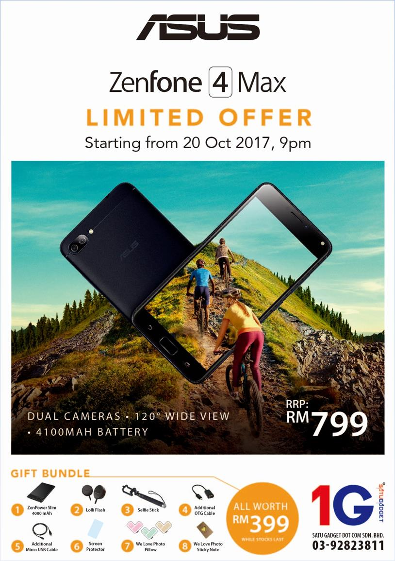 The ASUS ZenFone 4 Max launch offer