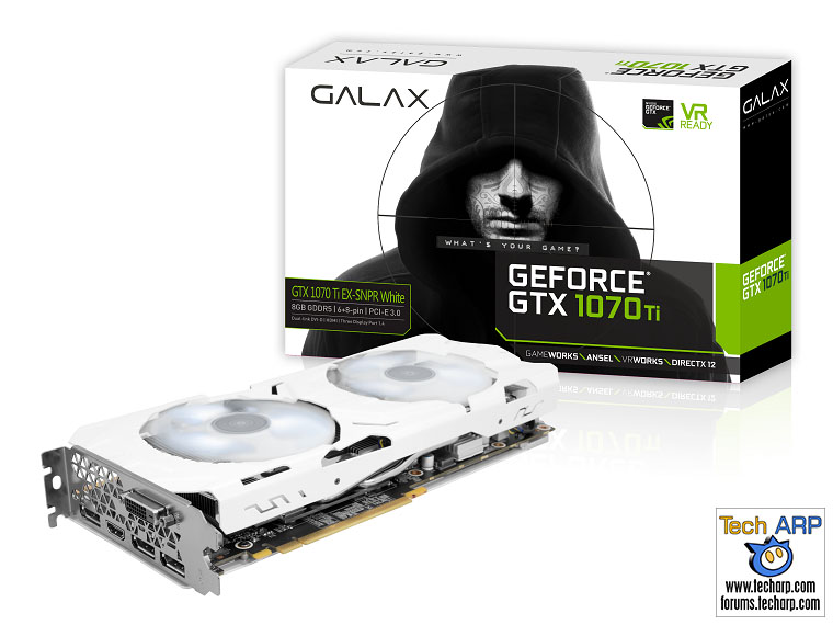 GALAXY GeForce GTX 1070 Ti EX-SNPR White