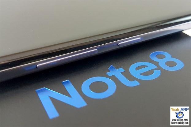 Samsung Galaxy Note8 left