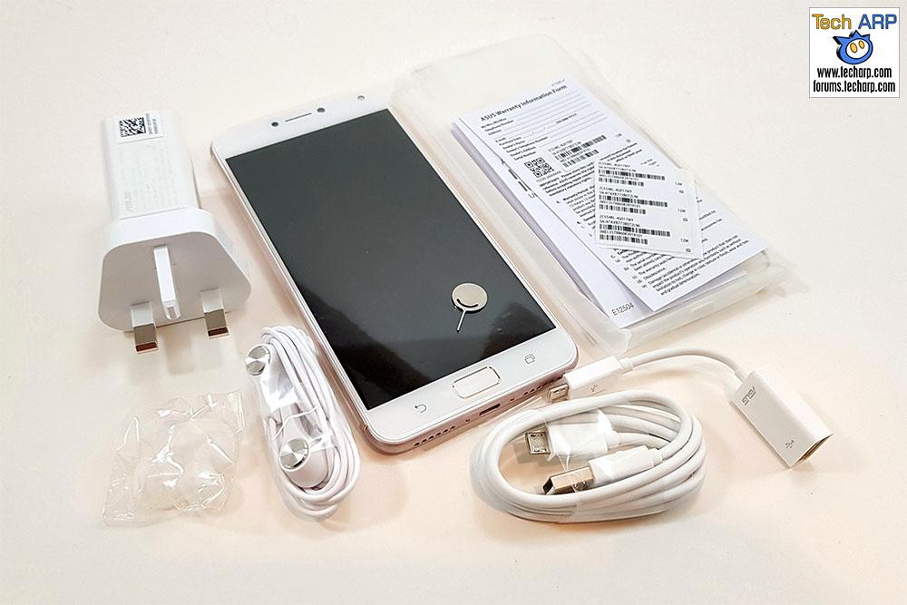 ASUS ZenFone 4 Max Pro box contents