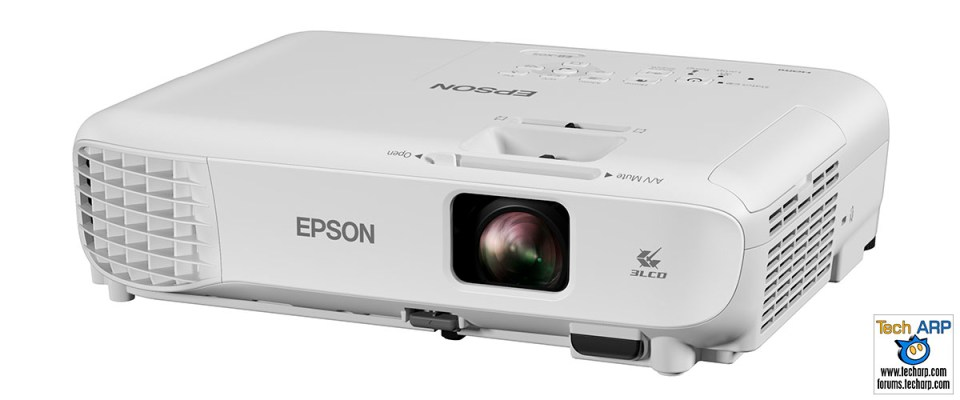 The Epson EB-X05 projector