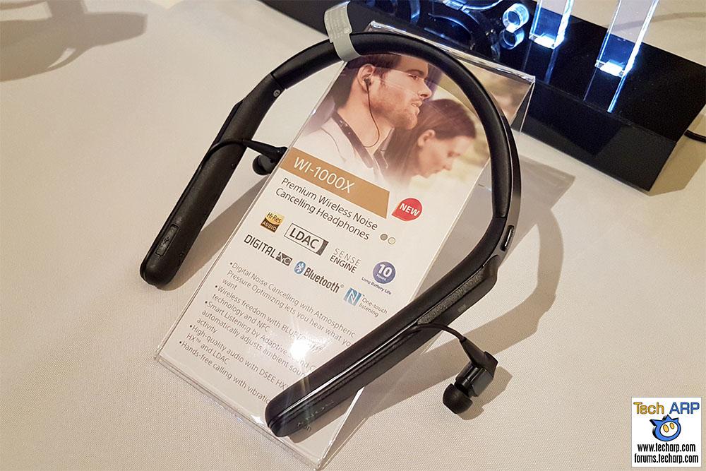 The Sony WI-1000X sports earphones