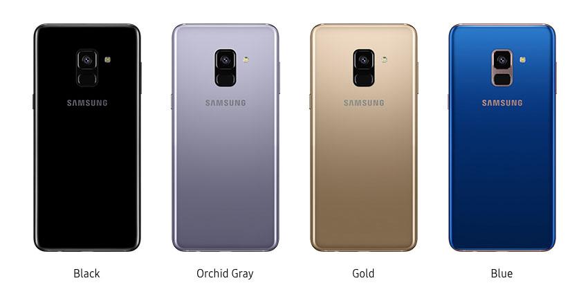 Samsung Galaxy A8 2018 colours