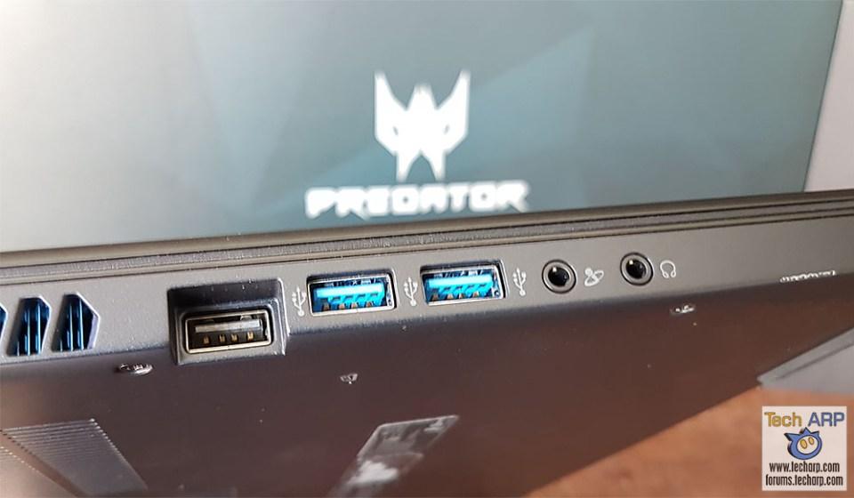 Acer Predator Triton 700 ports - left