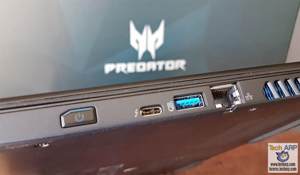 Acer Predator Triton 700 ports - right