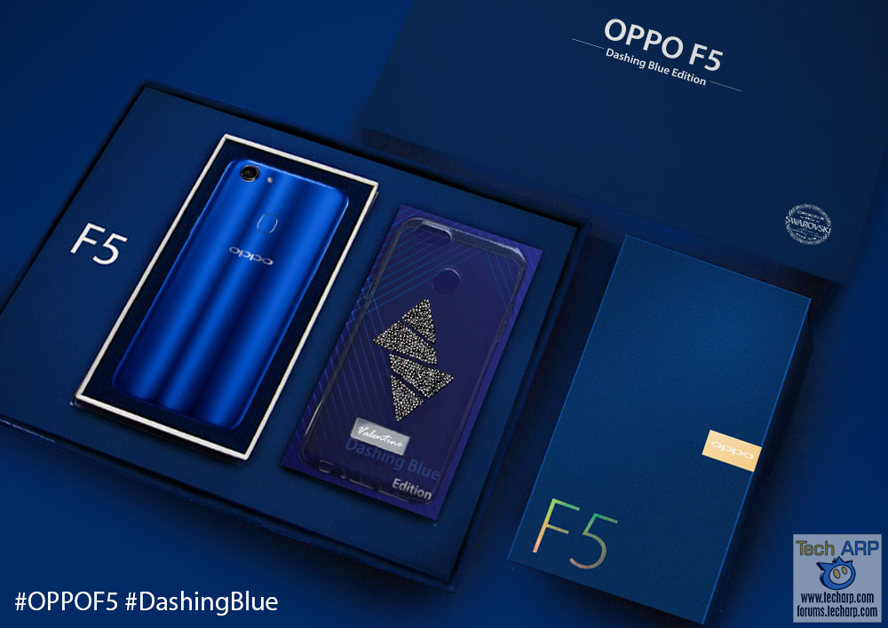 The OPPO F5 Dashing Blue Limited Edition Box Set Revealed!